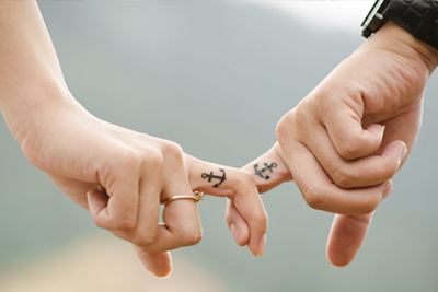 Tatouage couple anchor